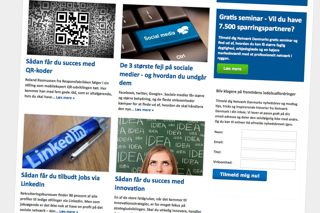 Advertorial for Netværk Danmark
