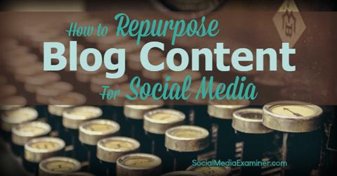Sådan genbruger du content fra din blog på sociale medier