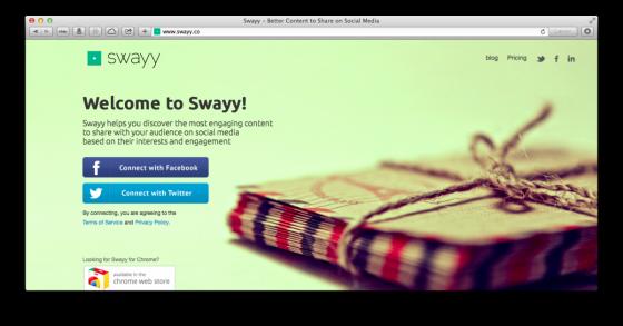 Tjenesten Swayy