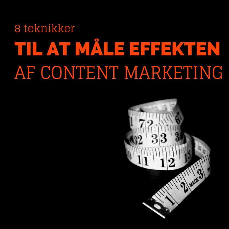 mål effekten af content marketing
