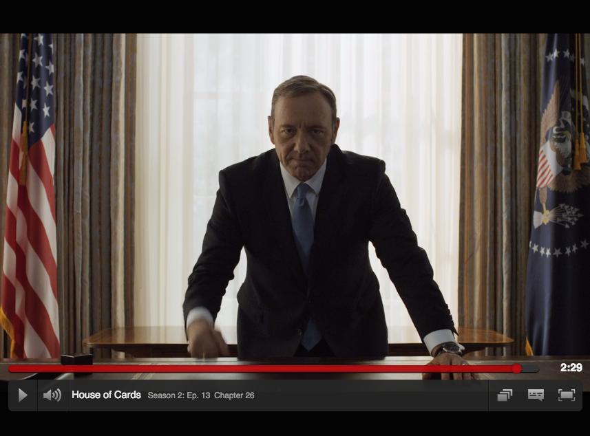 Kevin Spacey som Frank Underwood