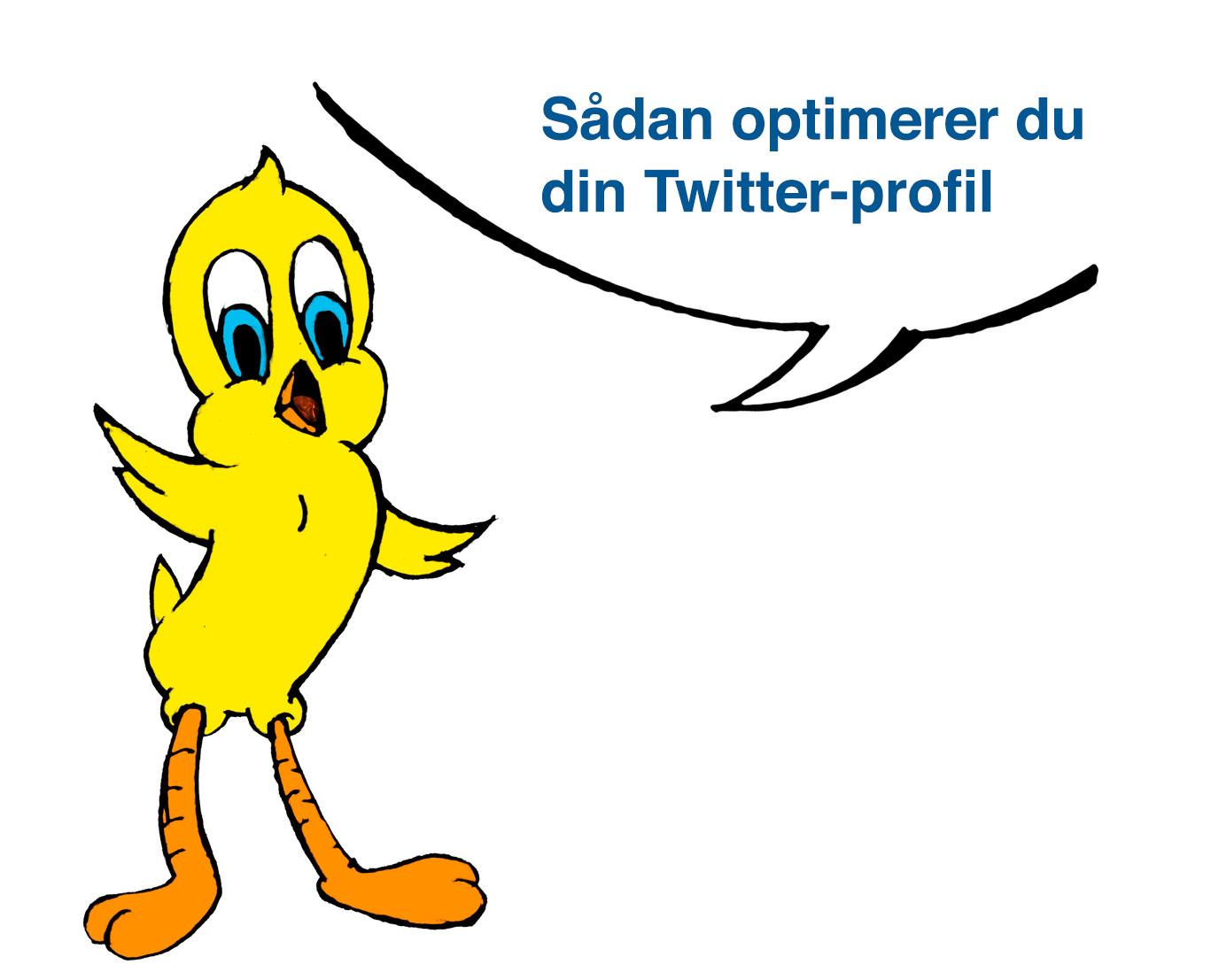 Sådan optimerer du din Twitter-profil