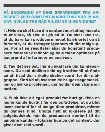 Content marketing-råd fra Planday