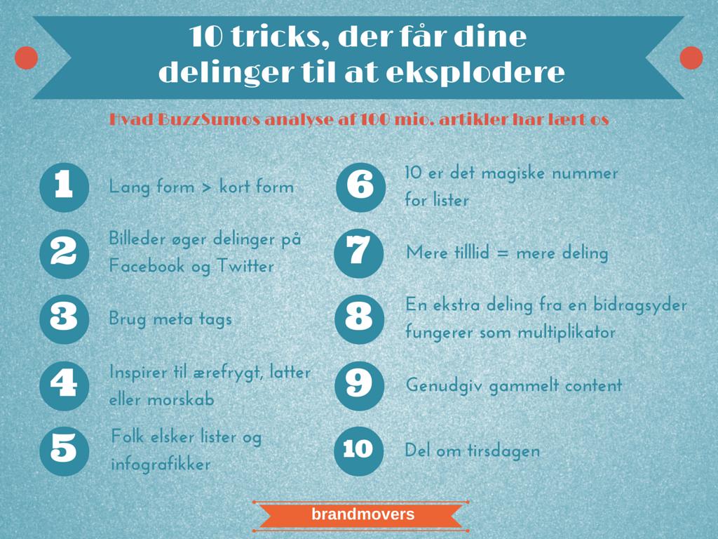 10 tricks, der får dine delinger til at eksplodere