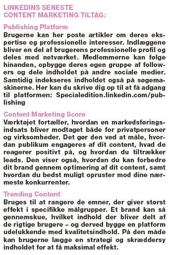 Tiltag på LinkedIn