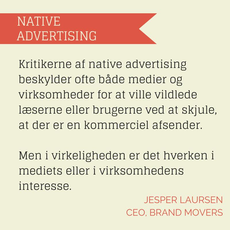 Annoncen får tæv af native advertising