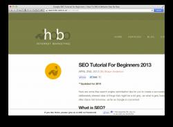 SEO med Hobo Internet Marketing