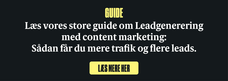 Guide til leadgenerering