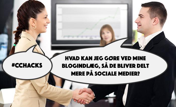 Sådan får du dine blogindlæg delt på sociale medier