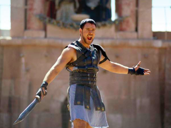Russell Crowe i Gladiator